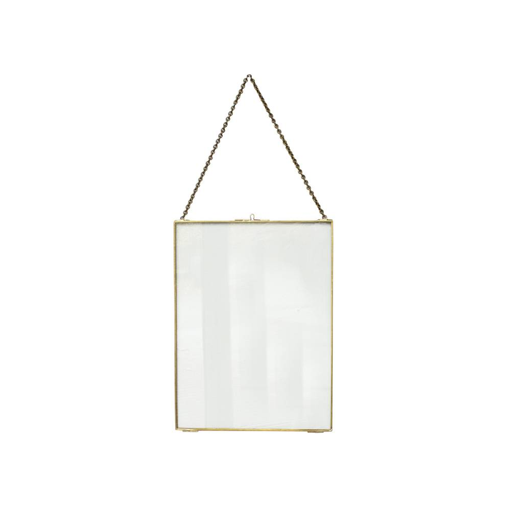 Coming B Glass and Brass Frame with Chain Small - Hoem