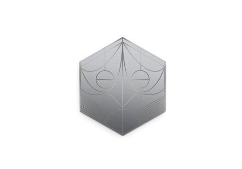 Petite Friture Mask Wall Mirror - Hexagon  Dark Gray