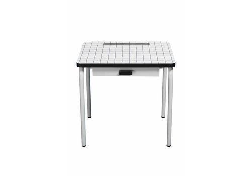 les Gambettes Blue plaid regine desk
