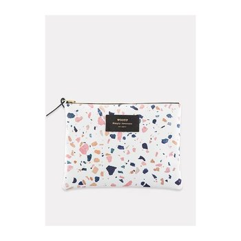 Woouf White Terrazzo Large Pouch
