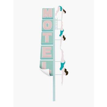 PaperMint Motel Dive sticker