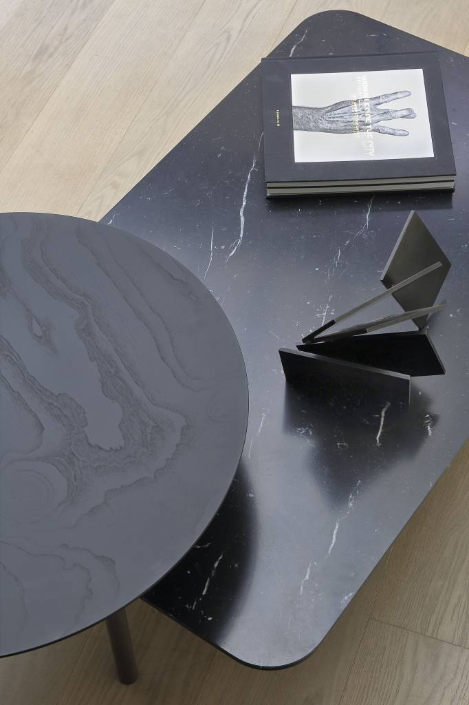 Coedition Coffee Table In Matte Marble Wood