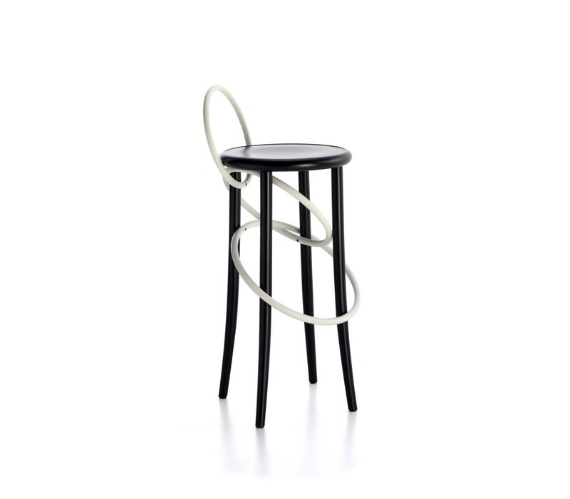Cirque Stool W Backrest  Two Tones Thonet Bar Stool57