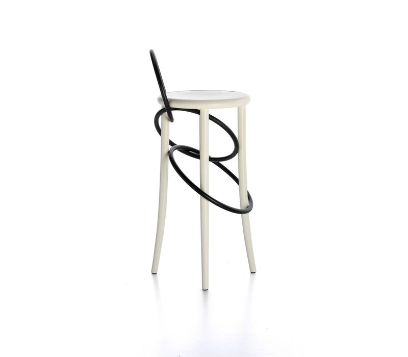Cirque Stool w backrest - two tones