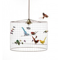 Pendant lamp Small Birdcage Mathieu Challieres