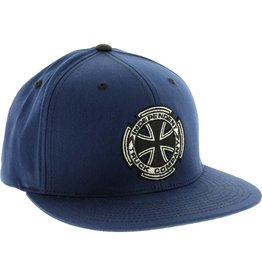 Independent metallic cross flex hat s/m navy
