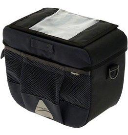 Axiom Axiom Barkeep DLX 9 Handlebar Bag: Black/Gray