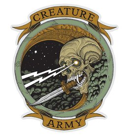 creature army decal 6.5x7 clear