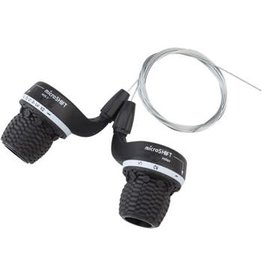 Microshift 4-18 microSHIFT Double/Triple 7-Speed Twist Shifter Set, Shimano Compatible
