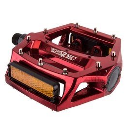 BLACK OPS 4-18 PEDALS BK-OPS PLATFORM ALY CRMO 9/16 RD-ANO STRAP COMPATIBLE