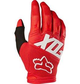 Fox Racing 6-18 Fox Racing Dirtpaw Men's Full Finger Glove: Red LG