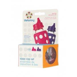 LifeFactory Lifefactory Sippy Cap Set - 2 Pack