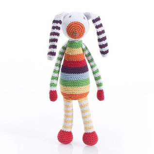 Pebble Pebble Handmade Rattle - Rainbow Bunny