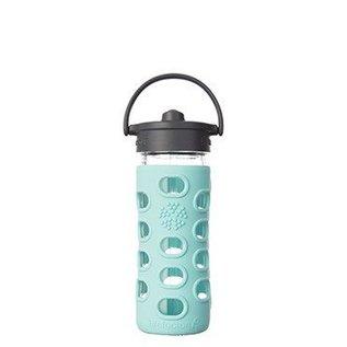 LifeFactory Lifefactory 12 oz Glass Bottle Straw Cap