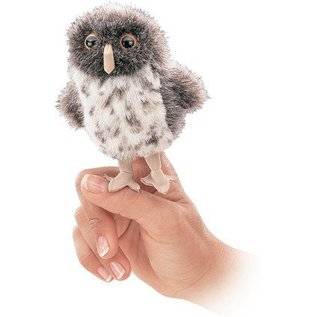 Folkmanis Spotted Owl Finger Puppet