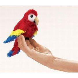 Folkmanis Scarlet Macaw Finger Puppet