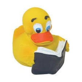 Rich Frog Reader Rubber Duck