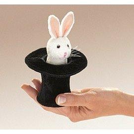 Folkmanis Mini Rabbit in a Hat Puppet