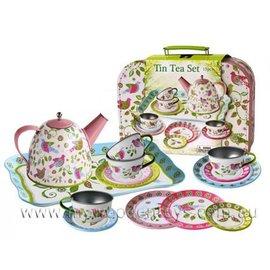 Bird Tin Tea Set