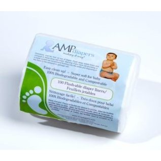 AMP Diapers AMP Flushable Liners