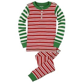 Hatley Hatley Pajama Set- Red Holiday Stripe