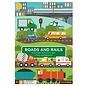 Petit Collage Roads & Rails Sticker Activity Set