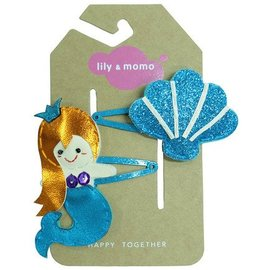 lily & momo Sparkle Shell and Mermaid Hair Clips