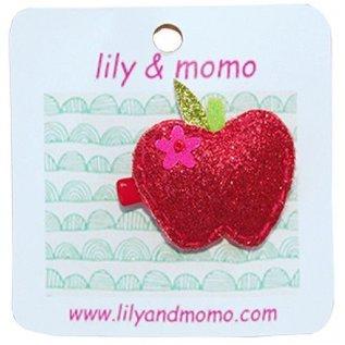 lily & momo Teacher's Apple Hair Clip