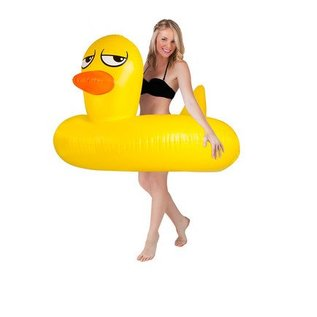Big Mouth Toys Giant Rubber Duckie Pool Float