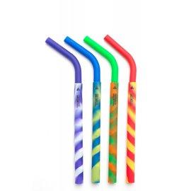 GrenPaxx Silicone Straws 4 Pack Tie Dye