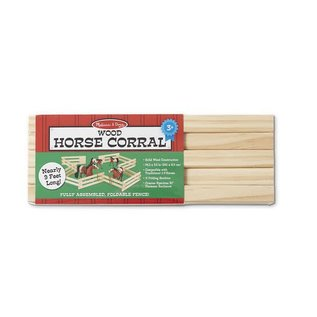 Melissa & Doug Wood Horse Corral Foldable Fence