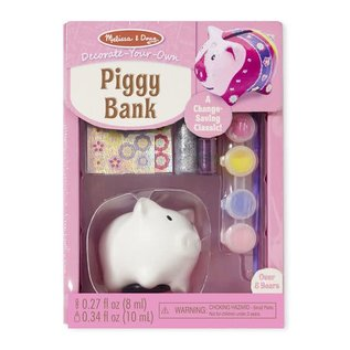 Melissa & Doug Decorate-Your-Own Piggy Bank