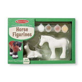 Melissa & Doug Decorate-Your-Own Horse Figurines