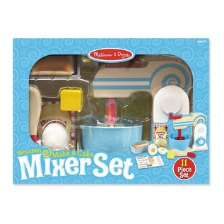Melissa & Doug Wooden Make-a-Cake Mixer Set