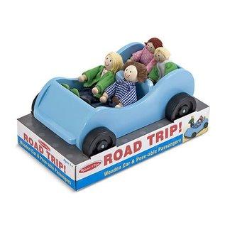 Melissa & Doug Road Trip! Wooden Car & Pose-able Passengers