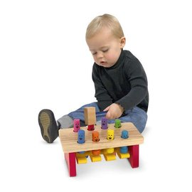 Melissa & Doug Coming Soon! Deluxe Pounding Bench Toddler Toy