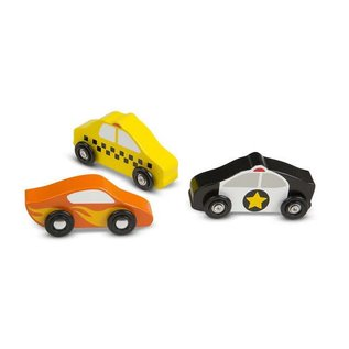 Melissa & Doug Wooden Cars Set - 9 Pieces