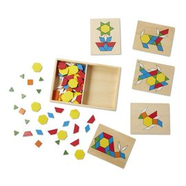Melissa & Doug Coming Soon! Pattern Blocks and Boards Classic Toy