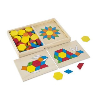 Melissa & Doug Pattern Blocks and Boards Classic Toy