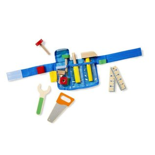 Melissa & Doug Deluxe Wooden Tool Belt Set