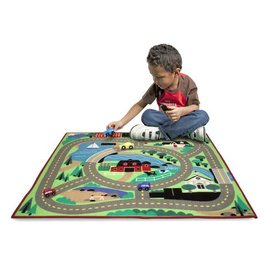 Melissa & Doug Around the Town Road Rug & Car Set