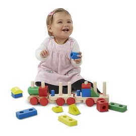 Melissa & Doug Stacking Train Toddler Toy