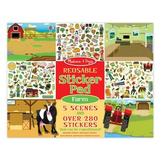 Melissa & Doug Reusable Sticker Pad - Farm