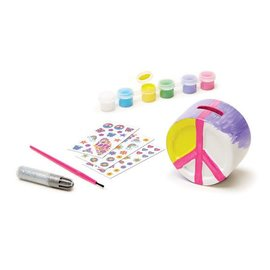 Melissa & Doug Decorate-Your-Own Peace Sign Bank