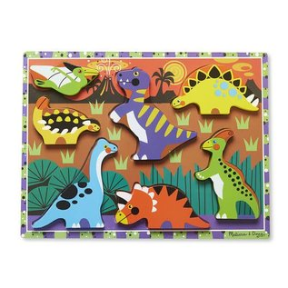Melissa & Doug Dinosaurs Chunky Puzzle - 8 Pieces