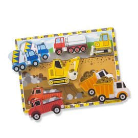 Melissa & Doug Construction Chunky Puzzle - 8 Pieces