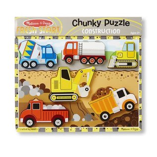 Melissa & Doug Construction Chunky Puzzle - 8 Pieces