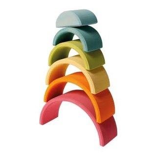 Grimms Grimms Medium Pastel Rainbow - 6 Pieces