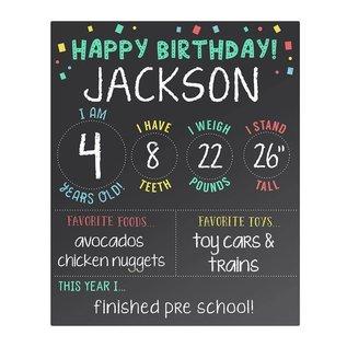 Pearhead My Birthday Chalkboard