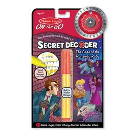Melissa & Doug Secret Decoder Set - Case of the Runaway Ruby